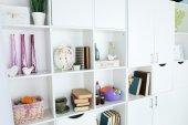 Modern design interior of room with closet, indoors — Stock Photo