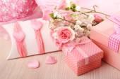 Handmade gift on Valentine Day, close-up — Stock Photo