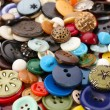 Various of colorful sewing buttons, macro view — Stock Photo #65688203