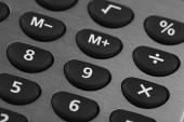 Visão macro da placa calculadora — Fotografia Stock