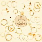 咖啡渍背景 — 图库照片