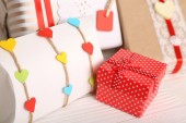 Beautiful gift boxes — Stock Photo