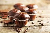 Gustosi muffin al cioccolato fatti in casa — Foto Stock
