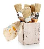 Paint brushes, isolated on white — Stock Photo