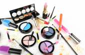 Different cosmetics isolated on white — Stock Photo