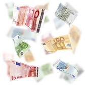 Volano banconote in euro — Foto Stock