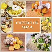 Citrus spa compositions in collage — Stock Photo