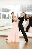 Ballroom dance in motion — Stock Photo