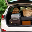 Suitcases and bags in trunk of car ready to depart for holidays — Stock Photo #67457559