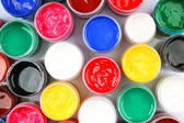 Colorful watercolor on white background, closeup view — Stock Photo