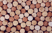 Heap of wine corks, macro view — Stock Photo