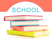 Back to school concept. Colorful notebooks, isolated on white — Stock Photo