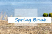 Spring break concept. Beautiful lake — Stock Photo