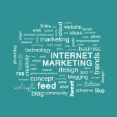 Word cloud. Internet marketing concept — Stock Photo
