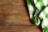 Napkin on wooden background — Stockfoto
