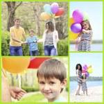 Happy family collage — Stock Photo #68289397