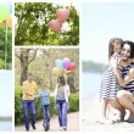 Happy family collage — Stock Photo #68289449