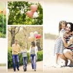 Happy family collage — Stock Photo #68289481