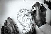 Process of making tattoo, close up — Stock Photo