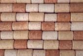 Many wine corks, macro view — Stock Photo