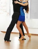 Beautiful couple in ballroom dance — Stock Photo
