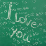 I Love You written on blackboard — Stock Photo #68732037