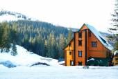 Beautiful view of Carpathian Mountains in wintertime — Stock Photo
