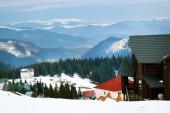 Carpathian Mountains in wintertime — Stock Photo