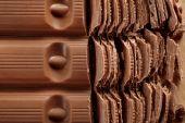Chopped chocolate, closeup — Stock Photo