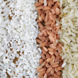 Different types of rice close up — Stock Photo #68834365