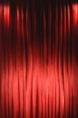Red Curtain close-up — Stock Photo