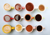 Many cups of coffee — Stock Photo