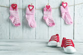 Cute toddler shoes — Stock Photo