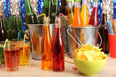 Prepared table with drink for party — Стоковое фото