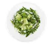 Plate of green salad — Stock Photo