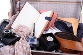 Packing suitcase for trip — Stock Photo