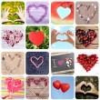 Collage of images with different hearts. Summer concept — Stock Photo #69774671