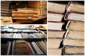Compositions avec livres en collage — Photo
