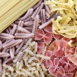 Different types of pasta close up — Stock Photo #70040749