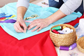 Male dressmaker tailor — Stock Photo