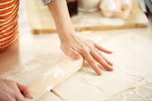 Making croissant cookies. — Stock Photo