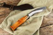 Nóż myśliwski wory — Zdjęcie stockowe
