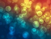 Festive abstract background with bokeh lights — Stockfoto