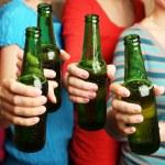 Beer in female hands — Stock Photo #70808353