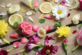 Background with beautiful flowers — Stock Photo