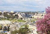 Jerusalém do Monte das oliveiras. — Fotografia Stock