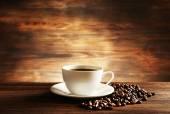 杯咖啡与五谷 — 图库照片