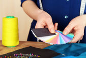 Samples of colorful fabric — Stock Photo