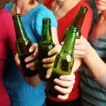 Beer in female hands, closeup — Stock Photo #71138977