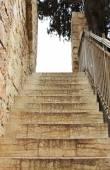 Old stone steps in Jerusalem — Photo